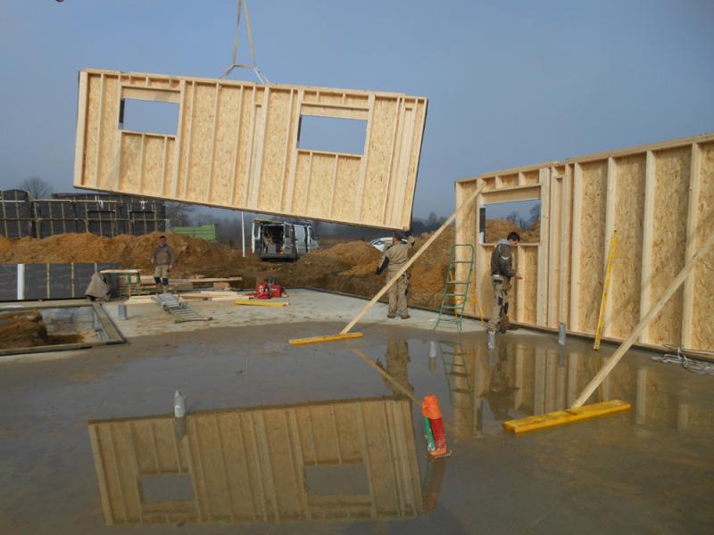 Construction de bureaux ossature bois